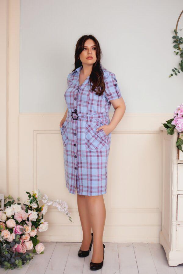 Макси платье (голубой)