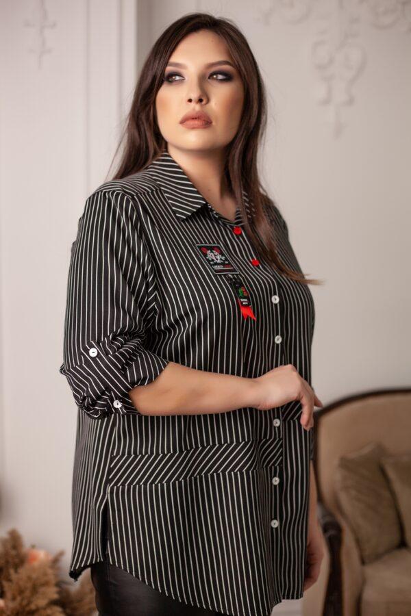 Адара рубашка (черный меланж)
