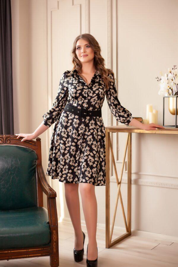 Дельта платье (черный мрамор)
