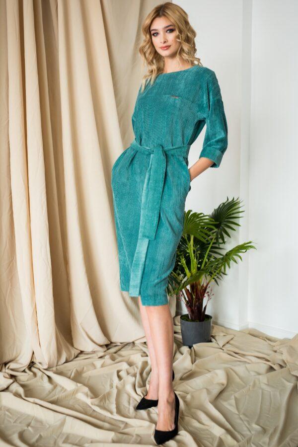 Сова платье (бирюзовый)